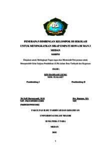 Penerapan Bimbingan Kelompok Di Sekolah Untuk Meningkatkan Sikap Empati Siswa Di Man 3 Medan Repository Uin Sumatera Utara