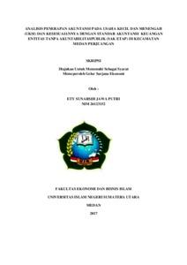 Analisis Penerapan Akuntansi Pada Usaha Kecil Dan Menengah Ukm Dan Kesesuaiannya Dengan Standar Akuntansi Keuangan Entitas Tanpa Akuntabilitaspublik Sak Tetap Di Kecamatan Medan Perjuangan Repository Uin Sumatera Utara