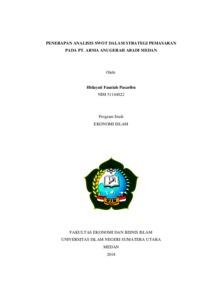 Penerapan Analisis Swot Dalam Strategi Pemasaran Pada Pt Arma Anugerah Abadi Medan Repository Uin Sumatera Utara