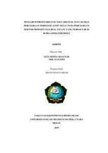 Pengaruh Profitabilitas Solvabilitas Dan Ukuran Perusahaan Terhadap Audit Delay Pada Perusahaan Sektor Property Dan Real Estate Yang Terdaftar Di Bursa Efek Indonesia Repository Uin Sumatera Utara