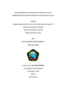 Sistem Pembuktian Tindak Pidana Perzinaan Dalam Perspektif Hukum Pidana Positif Dan Hukum Pidana Islam Repository Uin Sumatera Utara