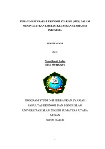 Peran Masyarakat Ekonomi Syariah Mes Dalam Meningkatkan Literasi Keuangan Syariah Di Indonesia Repository Uin Sumatera Utara