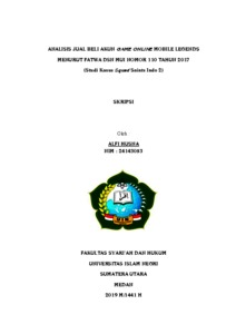 Analisis Jual Beli Akun Game Online Mobile Legends Menurut Fatwa Dsn Mui Nomor 110 Tahun 2017 Studi Kasus Squad Saints Indo 2 Repository Uin Sumatera Utara
