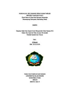 Hukum Jual Beli Barang Bekas Wakaf Menurut Mazhab Syafi I Studi Kasus Di Desa Koto Beringin Kecamatan Muarasipongi Kabupaten Mandailing Natal Repository Uin Sumatera Utara